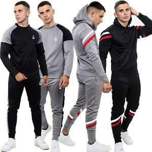 Men-039-s-Tracksuit-Set-Sports-Top-Bottoms-2-Pcs-Sweatshirt-Gym-Joggers-hoody-UK