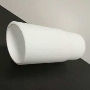 Lampenglas-60mm-Glas-Zylinder-schraeg-Ersatzglas-Weiss-Lampenschirm-Glasschirm