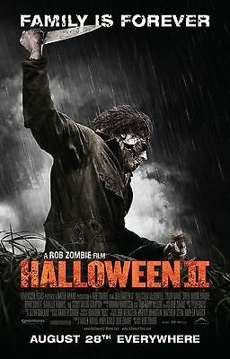 HALLOWEEN 2 Michael Myers Movie Poster Horror Remake Rob Zombie