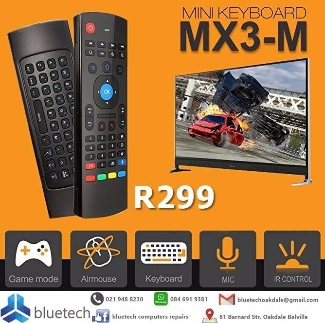 New MX3 2.4GHz Air Mouse Wireless Keyboard Remote Voice Control, Bluetech Computers 021 948 8230