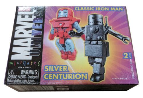Original Iron Man /& Silver Centurion Marvel MiniMates AFX Exclusive NEW MISB