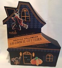 Williams Sonoma Kids Haunted Halloween 3D Cookie Cutters House Pumpkin Cat Witch