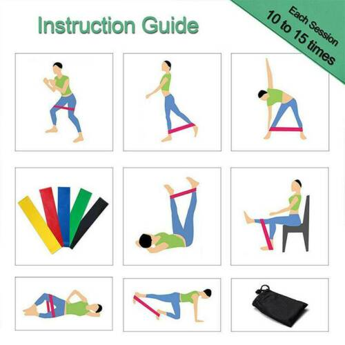 Exercise Resistance Bands Workout Pilates Elastic Yoga Rubber Fitness Band Train