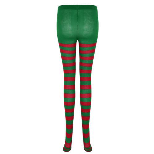 Christmas Mens Womens Jester Footed Tights Pantyhose Hosiery Socks Costume Club