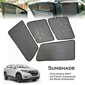 Car Window Shades >> Details About Car Window Side Sun Shades Sunshades Sun Visors For Honda Hrv Hr V 15 Up 4 Pcs