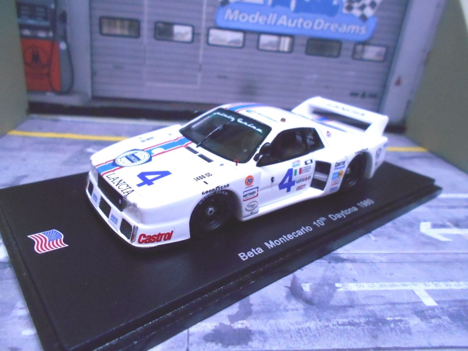LANCIA Beta Monte Carlo 1980 racing Daytona  4 Facetti Finotto resin spark 1 43