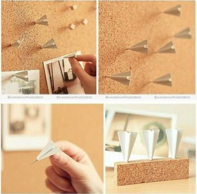 Lot of 6 Creative Cute Plane Pushpin Office Drawing Pin Thumbtack Cool Gifts