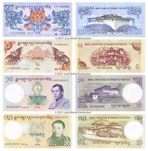 Bhutan-1-5-10-20-ngultrum-2006-13-Set-di-4-BANCONOTE-4-PZ-UNC
