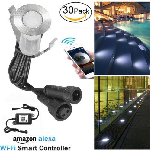 30 x Minispot WiFi Controller Dimmar LED Bodeneinbaustrahler Stufenleuchte Spot