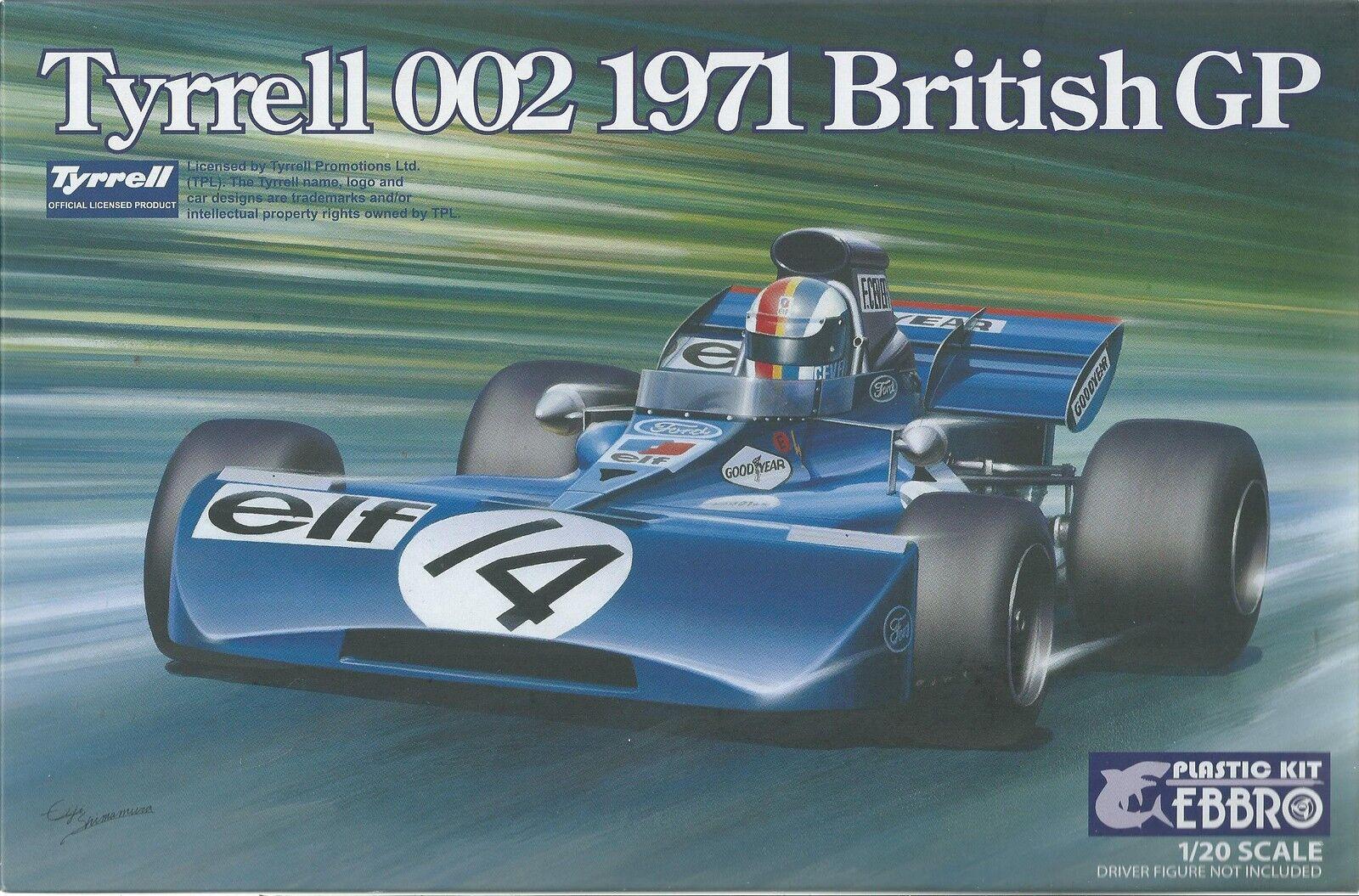 KIT EBBRO 1 20 DA COSTRUIRE IN PLASTICA TYRELL 002 1971 BRITISH GP  ART  008