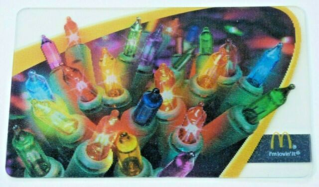 McDonalds Gift Card Lenticular / 3D Christmas Lights - 2007- No Value