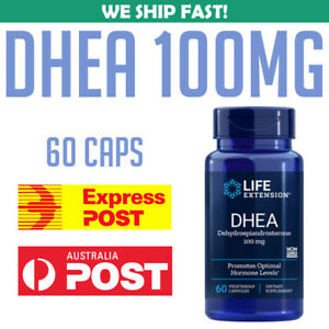 Life-Extension-DHEA-100-mg-60-capsules-Dehydroepiandrosterone-AU-STOCK
