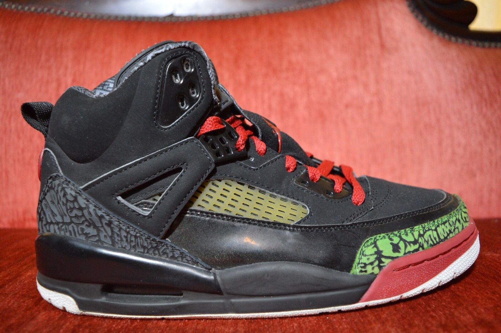 Mens Air Jordan Spizike Black Varsity Red Classic Green 315371-061 Size 9.5