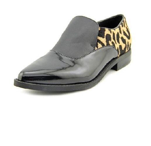 Sam Edelman Circus Leopard Calf Fur Patent Leather slip-ons creeper Size 7 ANB