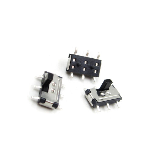 10pcs MSS-22C02 MINI SMD Slide Switch 2P2T 6-Pin for Electronic Accessories