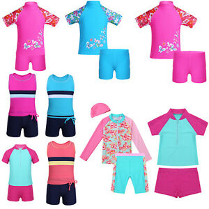 72557daa290b4 Kids Girls UV 50+ Sun Safe Swimsuit Swimwear Baby Surf Diving ...