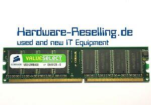 Corsair VS512MB400 512MB PC-3200U DDR 400MHz Memoria Principal RAM