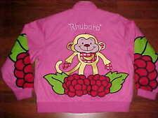 Strawberry Shortcakes Raspberry Tart Rhubarb Pink Red Yellow Designs Jacket 2XL