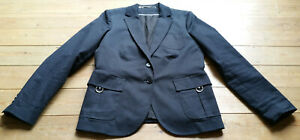 Collection Lined Vgc Us12 Jacket Cotton Gant Dark Uk16 Silver Stretch Blue StWqYwdv