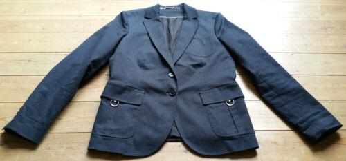 Collection Lined Vgc Us12 Jacket Cotton Gant Dark Uk16 Silver Stretch Blue StWqYwdv