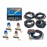 Wolo Hide-a-way Strobe Light Kit 2-blue / 2-red Bulbs 8004-8bbrr