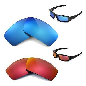 10ea6d9f840 New Walleva Polarized Ice Blue + Fire Red Lenses For Oakley Canteen ...