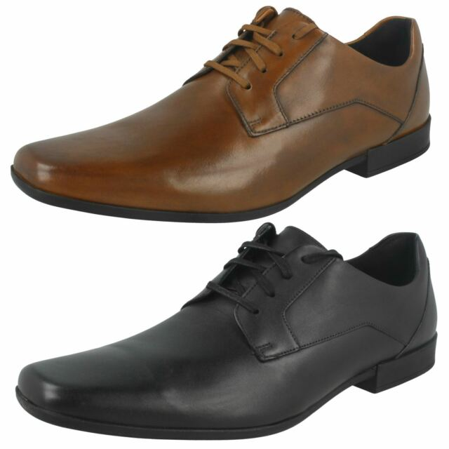c2838f73885a6 Clarks Glement Lace - Black Leather Mens Shoes 8 UK for sale online ...
