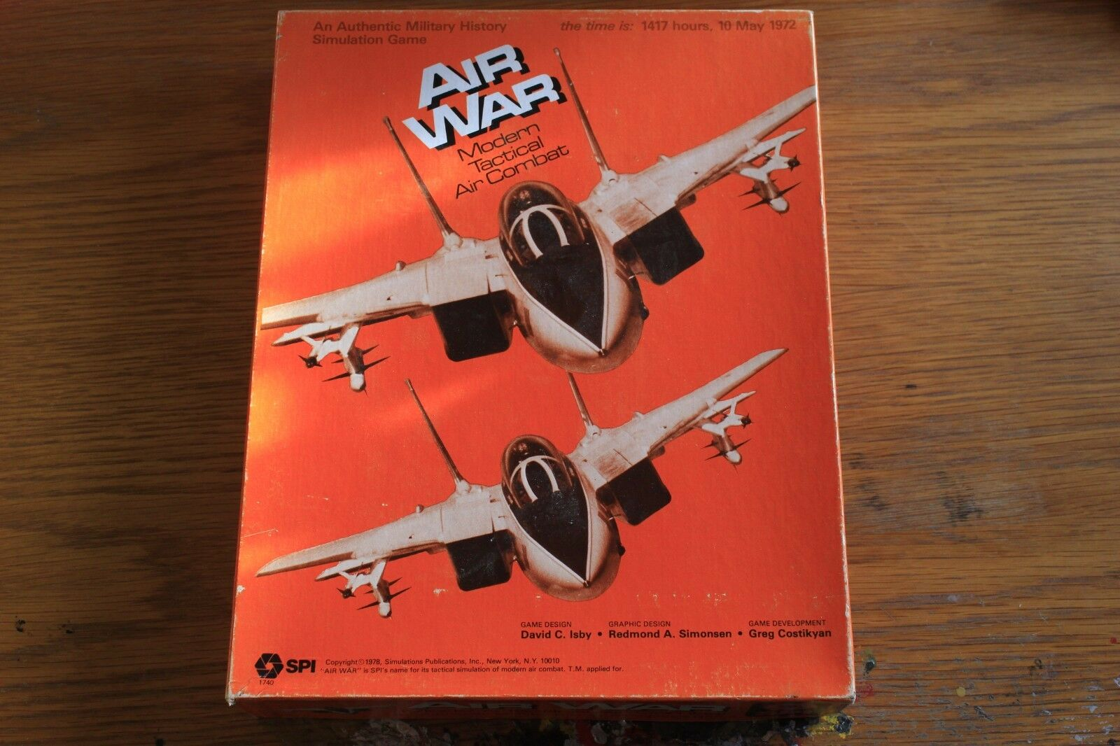 Air War  modern tactical air combat  bored Game 1972