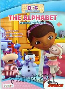 Disney-Jr-Doc-McStuffins-The-Alphabet-Learning-Workbook-Writing-Pre-K-Girl-New