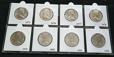 1975,1976 Australian 20 Cent Coins BU Example Coins Straight from the RAM Roll.