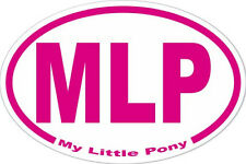 My Little Pony MLP Oval Euro Style Decal Car Bumper Sticker Laptop Locker FiM