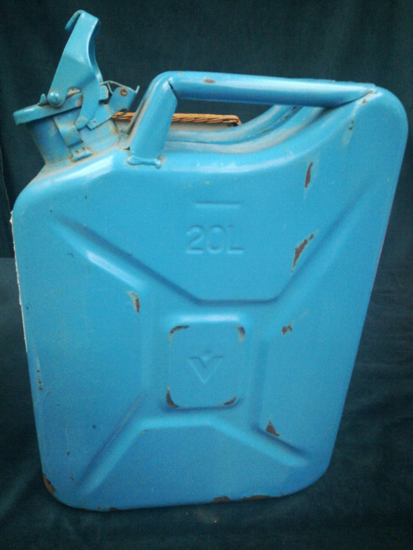 Water Jerry can in blue metal 20lt