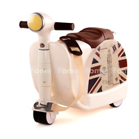 Fome Ride-on Suitcase, Children's Multifunction Luggage Cart Storage Toy Box