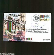JS50/45/16B  VICTORY OVER JAPAN - Pacific Star  1945,  signed RAF  postal cover