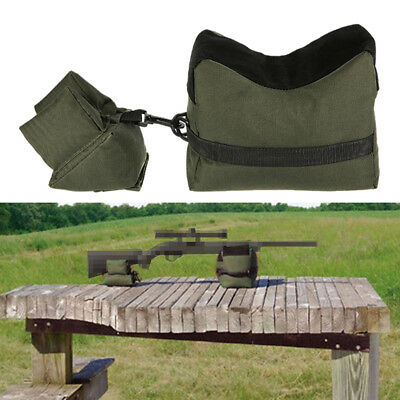 Tactical Shooting Range Sand Bag Rifle Gun Bench Rest Stand Front /& Rear Tools