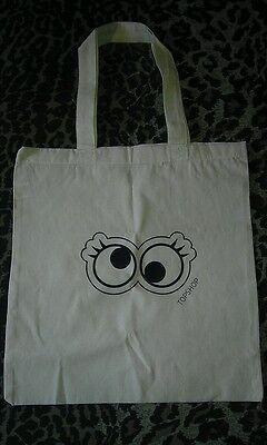 Crazy Googly eyes topshop screen printed tote bag eco friendly handbag