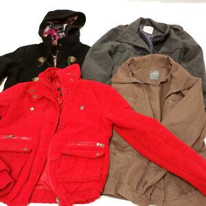 Lot-4-Womens-XS-Jackets-Lot-Peacoat-Long-Short-Fall-Spring-Winter-Mixed-Lot