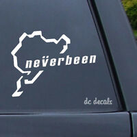 NEVERBEEN NURBURGRING Car Van Window Vinyl Decal Sticker JDM VW VAG German Track