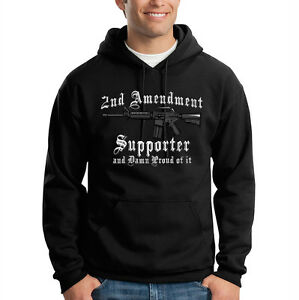 Gun Ar 2nd Hooded Hoodie Rights Supporter Sweatshirt 15 Amendment Patriotic txXqw7Rw