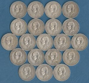 Greece 20 drachmai 1960 Silver .835 OFFER PRICE //COIN 100 coins King Paulos