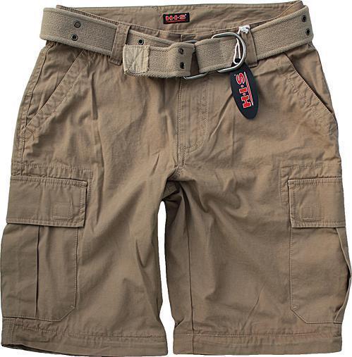 H.I.S Cargo Shorts with Belt SIZE 44 W30 S Camel