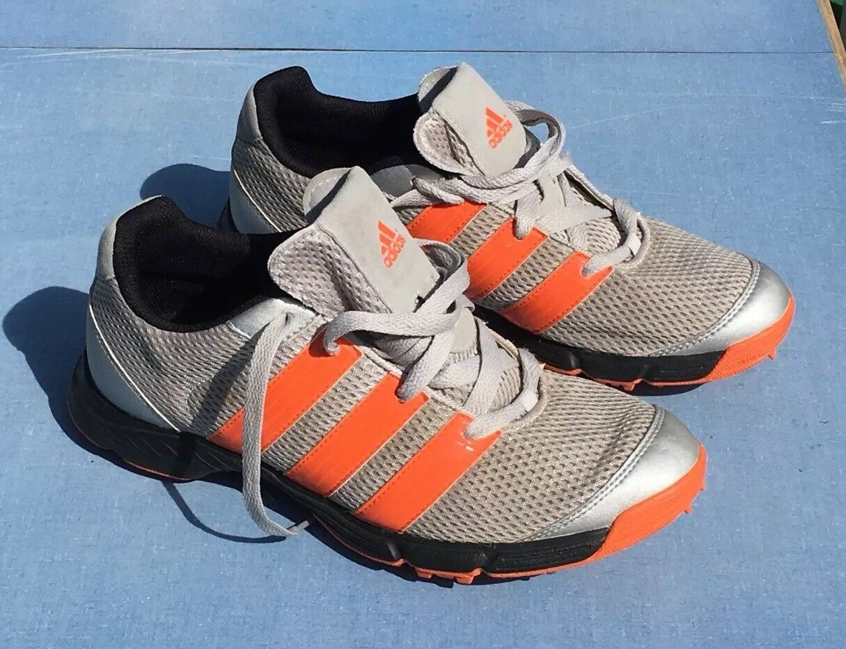 Hombre sz 8 zapatos de golf Adidas Traxion Mujer 10 EUC Gris & Naranja EUC 10 Art 674167 12 / 11 casual salvaje 28e949