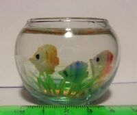 1:12 Glass Fish Bowl Dolls House Miniature Aquarium Accessory
