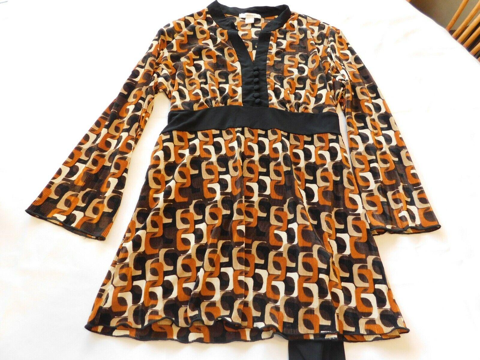 Kleid Stall Damen Langärmeliges Kleid Größe XL Mehrfarbig EUC