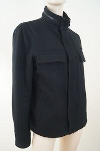 J-JIL-SANDER-UNIQLO-Black-Wool-Mix-Lined-Casual-Zip-amp-Stud-Fasten-Jacket-Sz-L