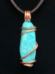 Copper amazonite pendant