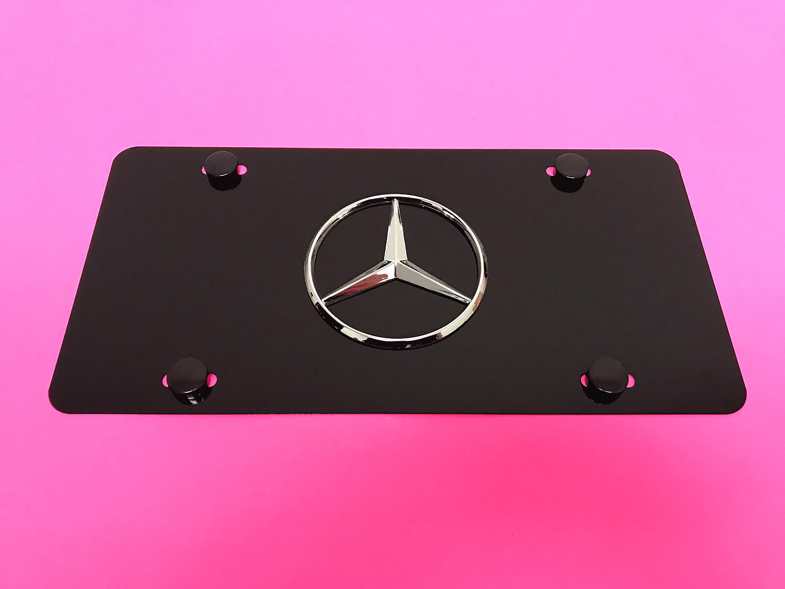 Chevy Bowtie PINK Aluminum  License Plate Tag  Simulated Black Carbon fiber  New