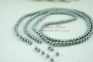 180pcs-Beads-4mm-Medium-Grey-Color-Imitation-Acrylic-Loose-Round-Pearl-Spacer