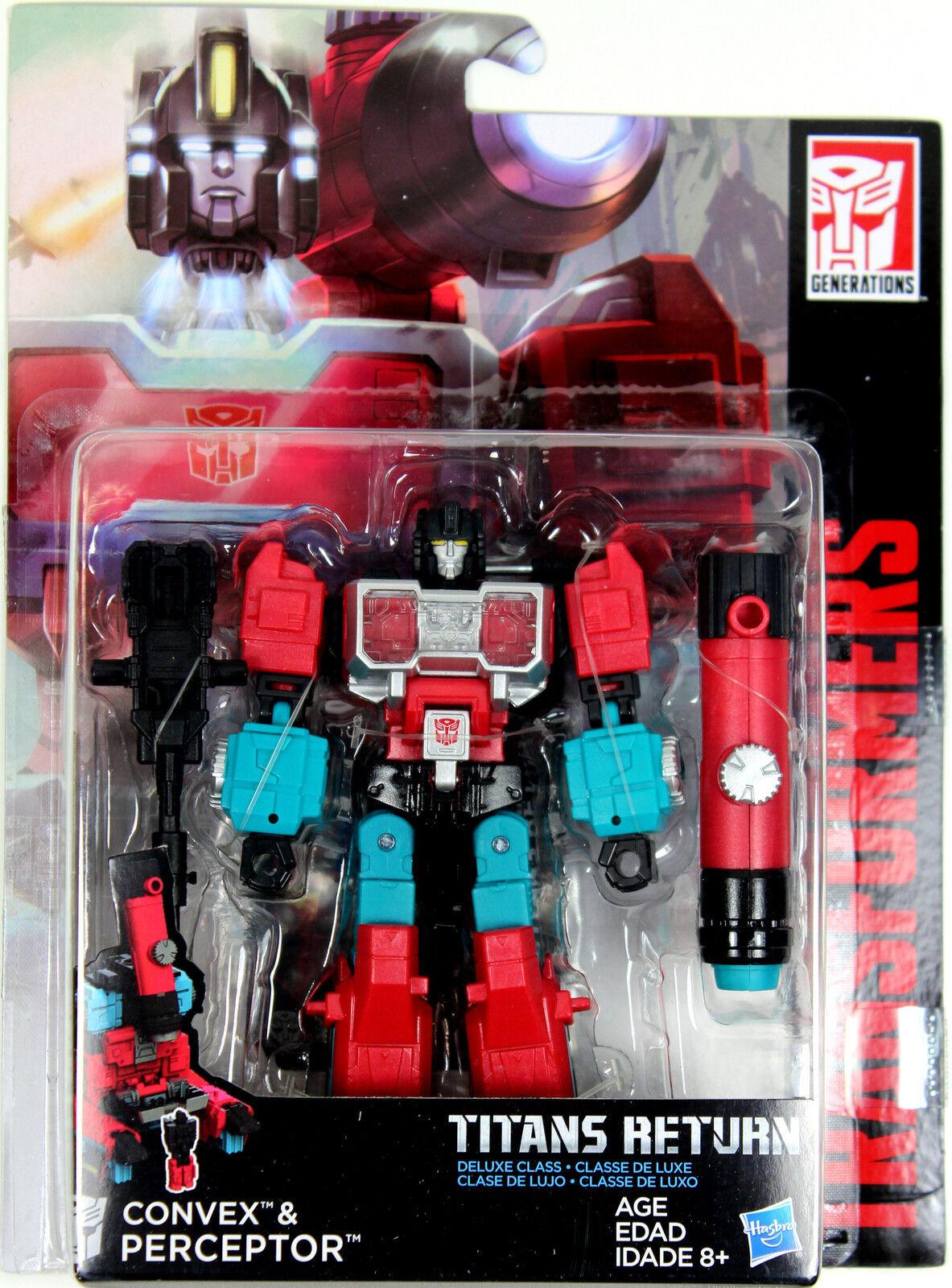 Transformers: Titans Return  PERCEPTOR & CONVEX ACTION FIGURES  Deluxe Class