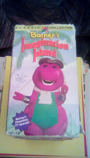 Barney's Imagination Island rare WHITE tape (1994) VHS Barney's TV Special OOP